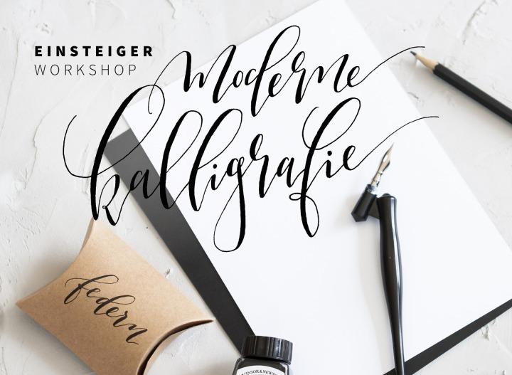 Moderne Kalligarfie Workshop mit Karin Berger für Anfänger.