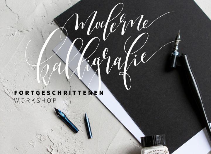 Moderne Kalligrafie Workshop in der Guten Stube.